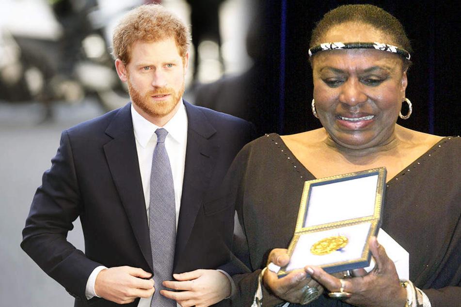 Prinz Harry und die Sängerin Miriam Makeba waren laut Angaben der Schüler nicht zu verstehen.