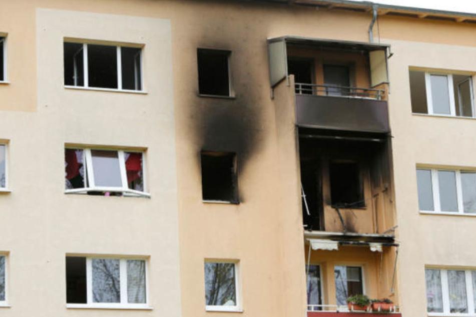 Denis S. soll für die Explosion seiner Mietwohnung am 7. Oktober 2017 im Leipziger Süden verantwortlich sein. Er wollte offenbar von der Versicherung abkassieren.