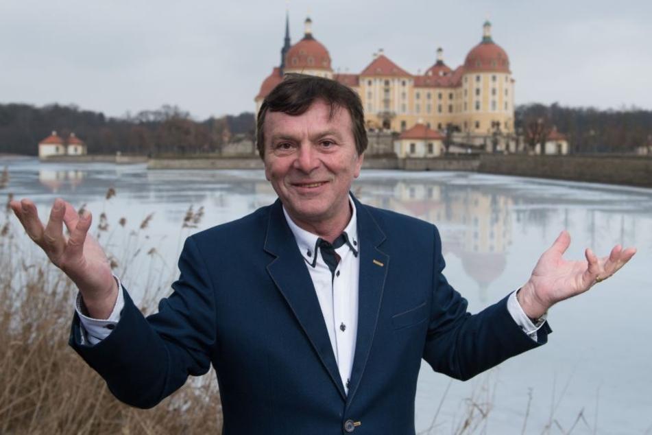 Hauptdarsteller Pavel Travnicek besuchte im Februar 2017 eine der Kulissen des Films: das Schloss Moritzburg.