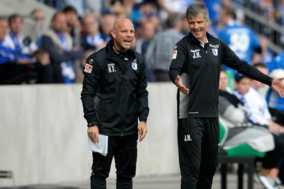 Ronny Thielemann und Jens Härtel sind nicht länger Co-Trainer und Coach in Magdeburg.