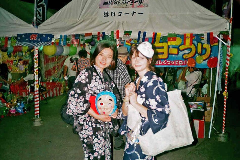 Elisa (rechts) mit ihrer japanischen Freundin Nunome-san.