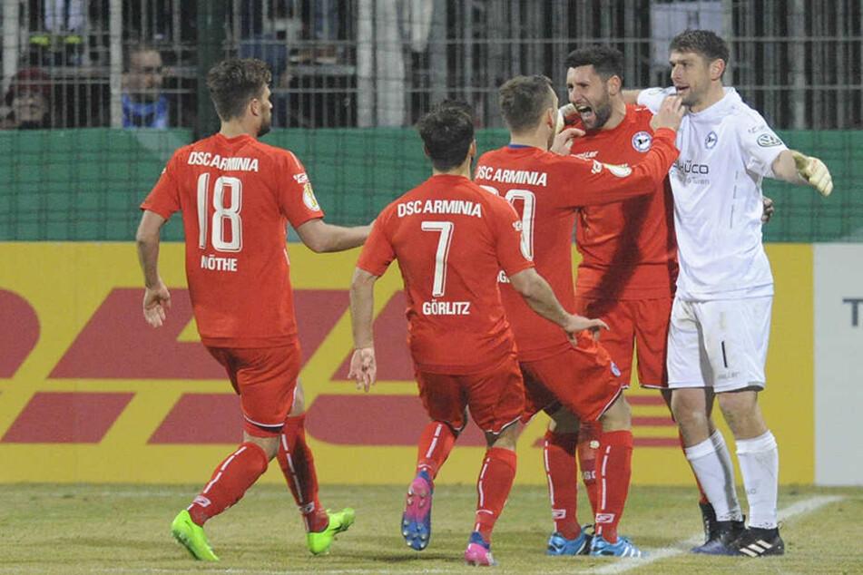 Wie bei Astoria Walldorf möchte der DSC auch gegen Eintracht Frankfurt ein Weiterkommen feiern.