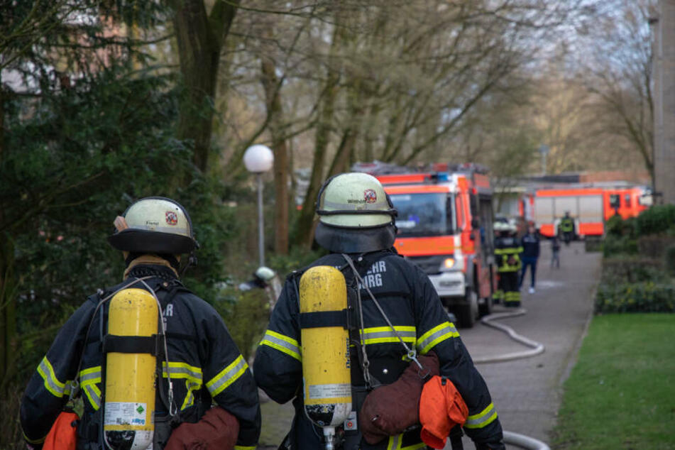 Der Brand sorgte für einen großen Feuerwehreinsatz.