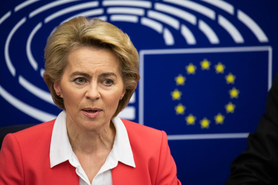 Die Präsidentin der Europäischen Kommission, Ursula von der Leyen (CDU).