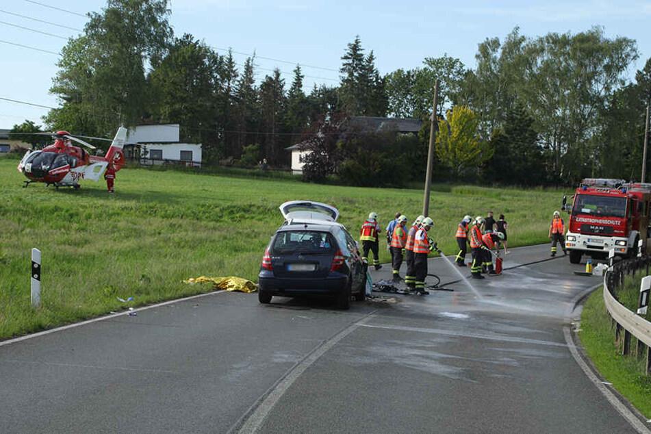 Ein Rettungshubschrauber kam vor Ort zum Einsatz.