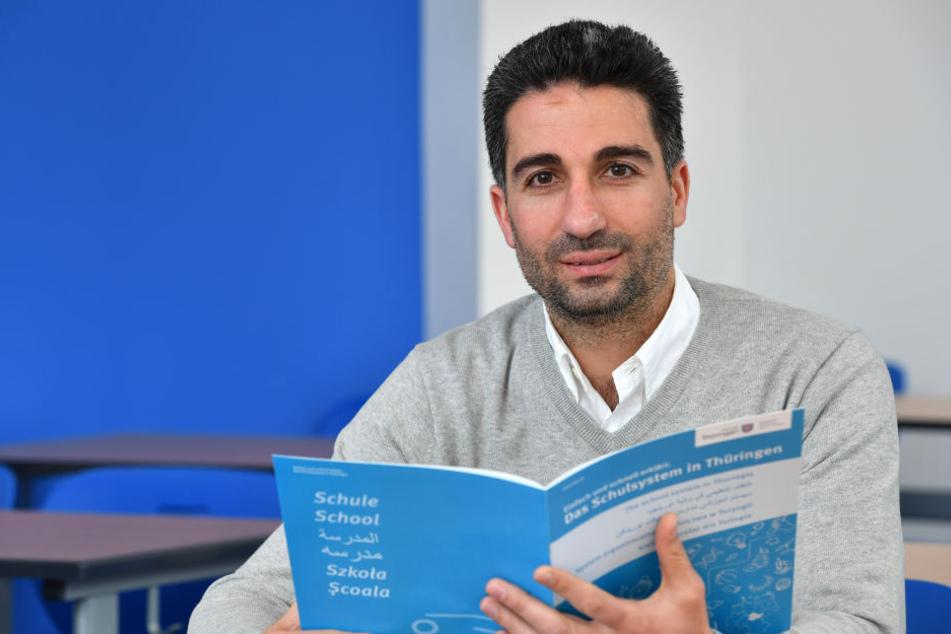 Der gebürtige Syrer und Geschäftsführer des Erfurter Zentrum für Sprachen und Integration, Malek Harba.
