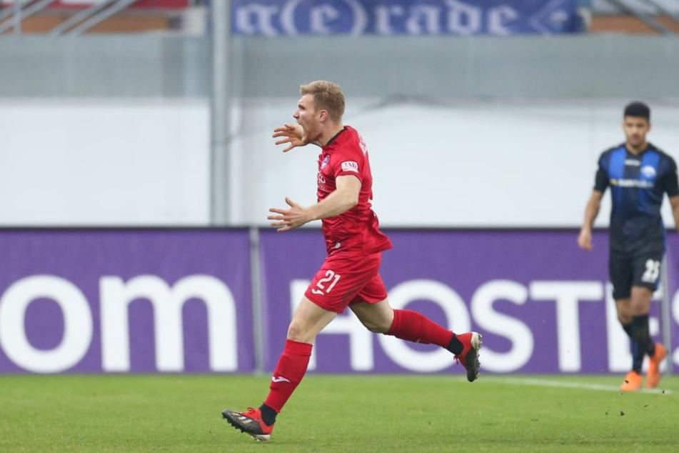 Jubelnder Andreas Voglsammer bei seinem Treffer zum 1:0.