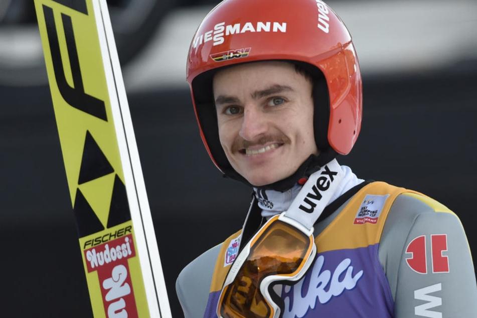 Der Bart war im vergangenen Winter das Markenzeichen von Richard Freitag.