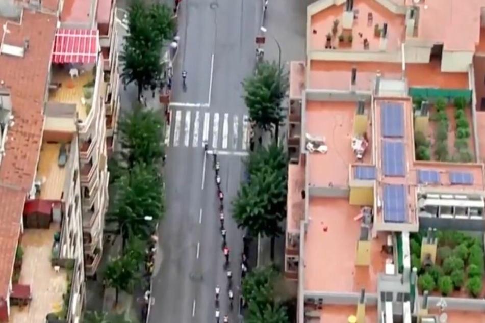 """Bei """"La Vuelta""""-Übertragung: Unfassbar, was die Polizei auf den TV-Bildern entdeckt"""