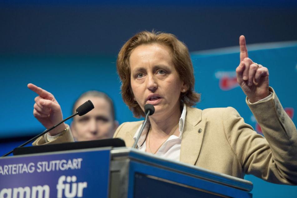 AfD-Hetze: Beatrix von Storch (47) nutzte das Crossner Freibad auf Facebook für ihre Propaganda gegen Migranten.