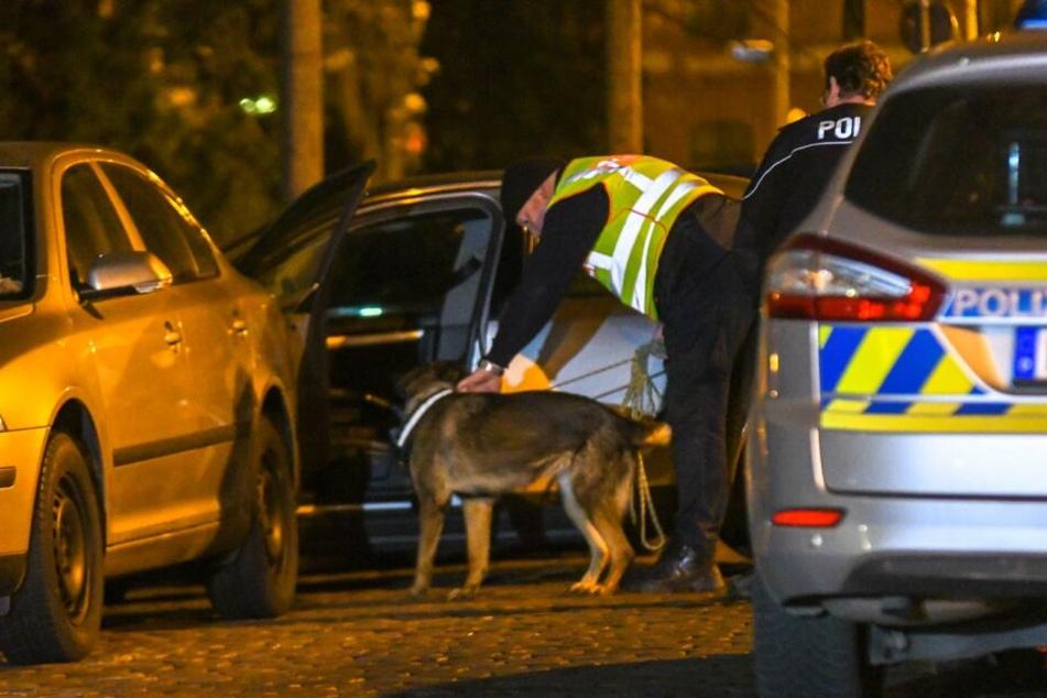 Der Fahrer konnte fliehen. Selbst der Einsatz eines Spürhundes brachte keinen Erfolg.