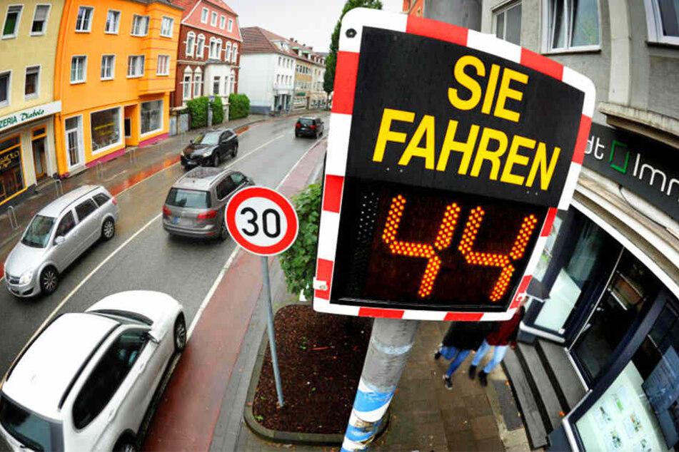 Das Tempolimit von 30 wird an der Stapenhorststraße gerne überschritten.