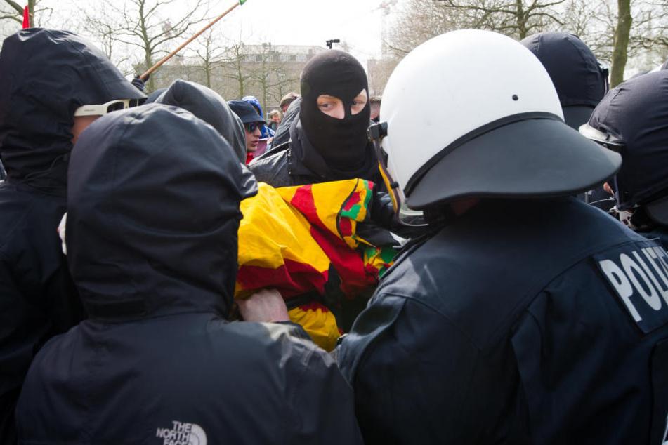 Die Demonstration der rechtsextremen Partei III. Weg will durch Gera ziehen. (Symbolbild)
