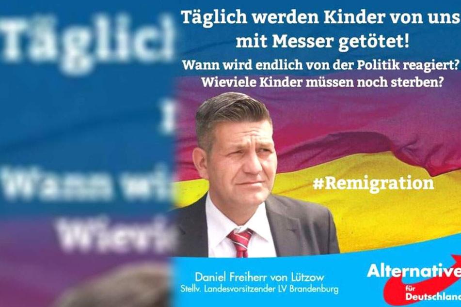 AfD-Politiker wegen Hetz-Plakat heftig verspottet