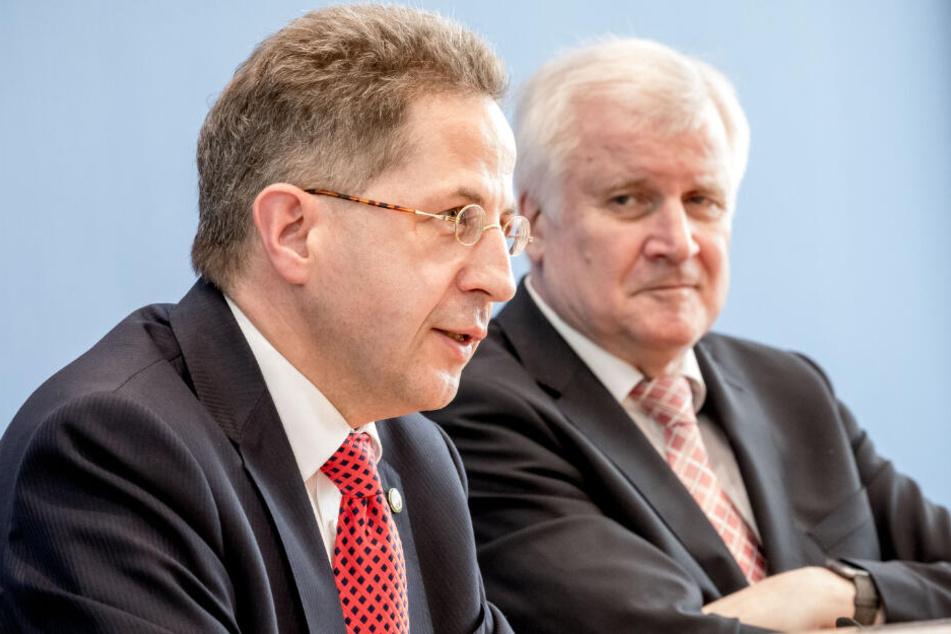 Maaßen (links) mit Innenminister Seehofer.