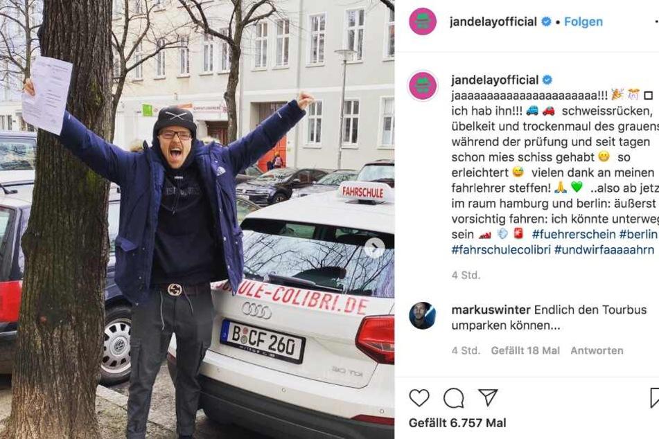Jan Delay freut sich über seinen Führerschein.