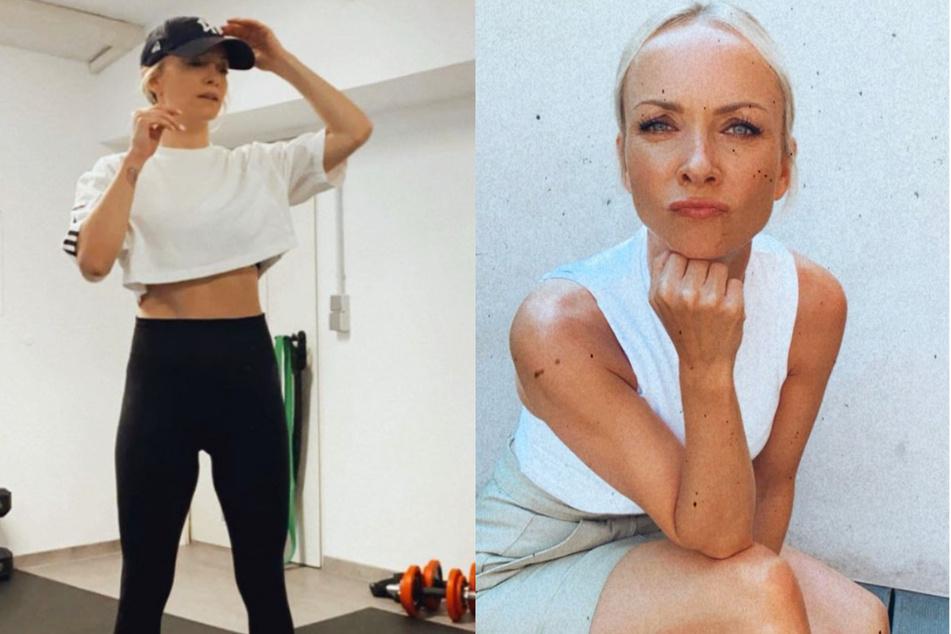 """Moderatorin Janin Ullmann (39) hat sich auf Instagram gegen Bodyshaming gewehrt. Ein User hatte sie als """"Brett mit Warzen"""" bezeichnet."""