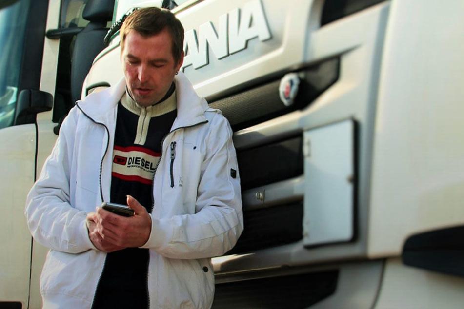 Patrick Henschel vor seinem Truck. Mit seiner Idee gewann der 36-jährige beim vierten Leipziger Startup Weekend.