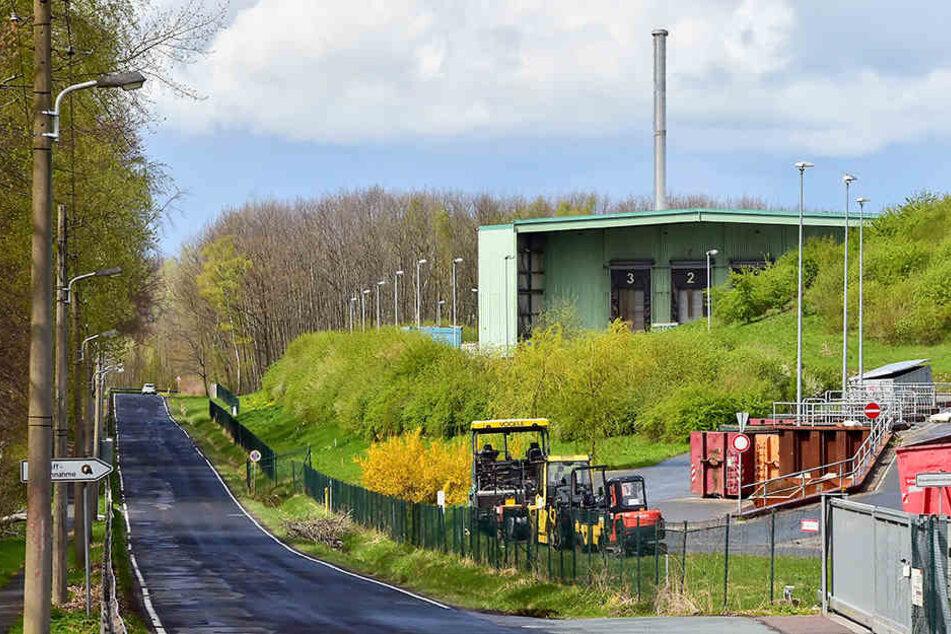 Am Weißen Weg im Zeisigwald soll die Müllverbrennungsanlage entstehen.