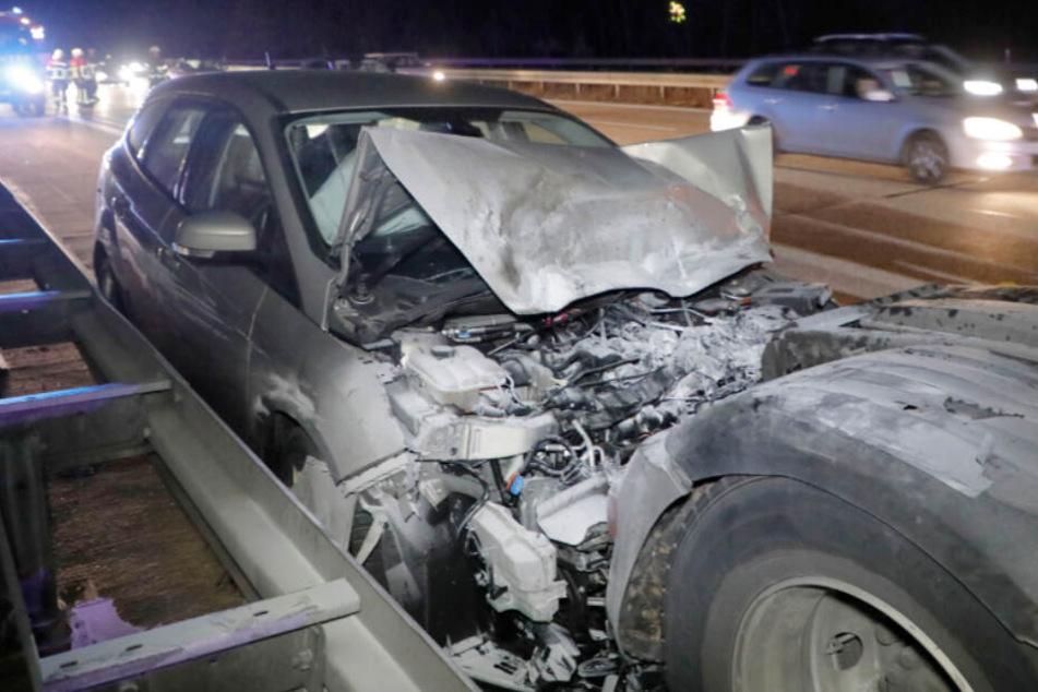 A4 nach Auffahrunfall teilweise gesperrt