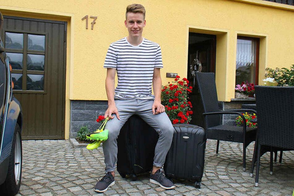 In der kommenden Woche zieht Florian Hansch erstmals aus seinem Elternhaus in Erdmannsdorf aus. Dann gehts nach Sandhausen. Die Koffer sind gepackt!