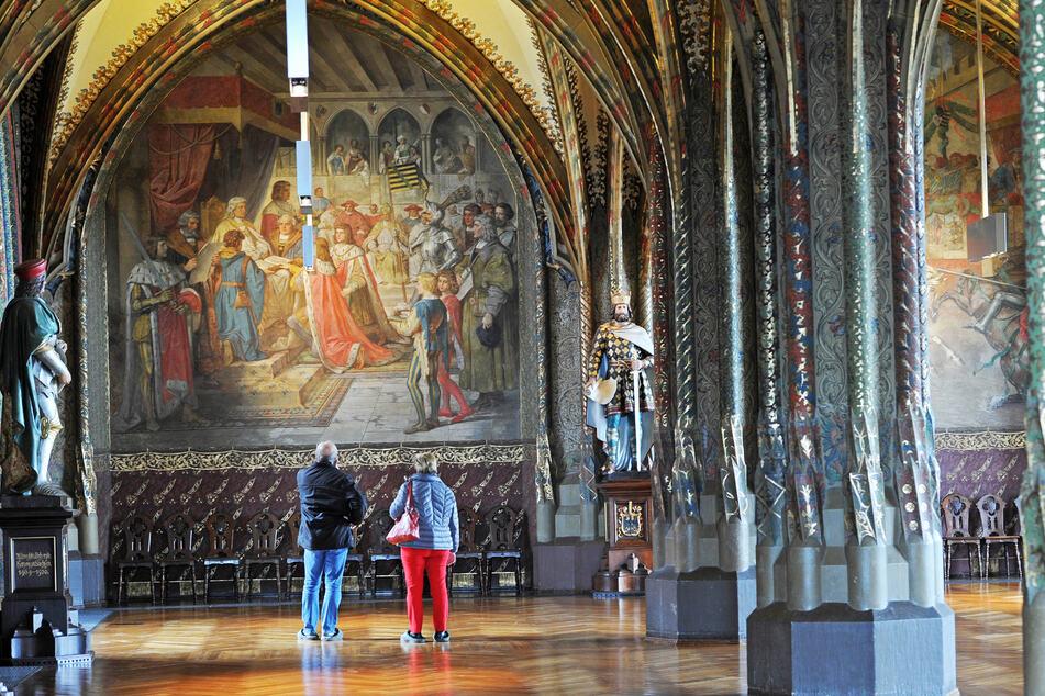 Die Albrechtsburg hoch über Meißen öffnet am Samstag. Im Bild die Große Hofstube.