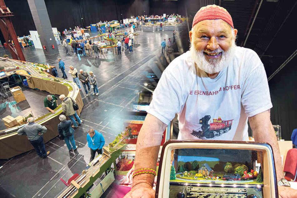 In der Messe Chemnitz kommen die Eisenbahnfans bis Sonntagabend auf ihre Kosten.