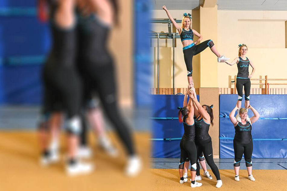 Nein, Cheerleader winken nicht nur bei Großveranstaltungen mit Puscheln. Sie machen auch selbst richtig guten Sport, bauen Pyramiden.