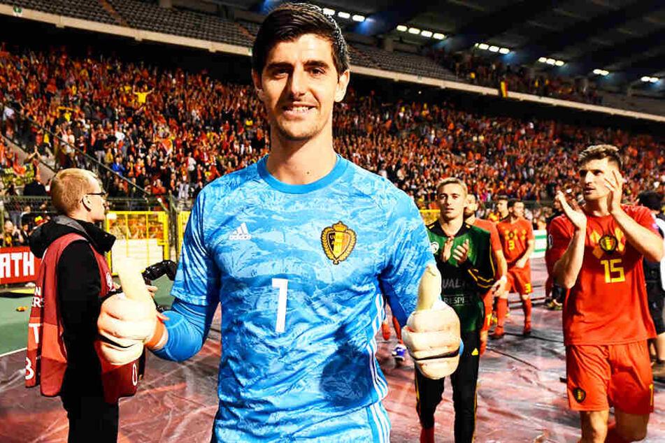 Thibaut Courtois qualifizierte sich am Donnerstag mit Belgien für die EM 2020.