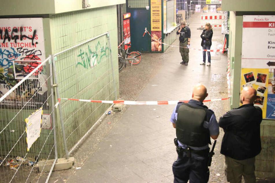 Im Aufgang zum U-Bahnhof Görlitzer Park begann der blutige Streit.