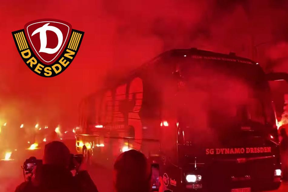 Dynamo-Fans mit krassem Empfang: Pyro-Show für die Ost-Derby-Sieger!