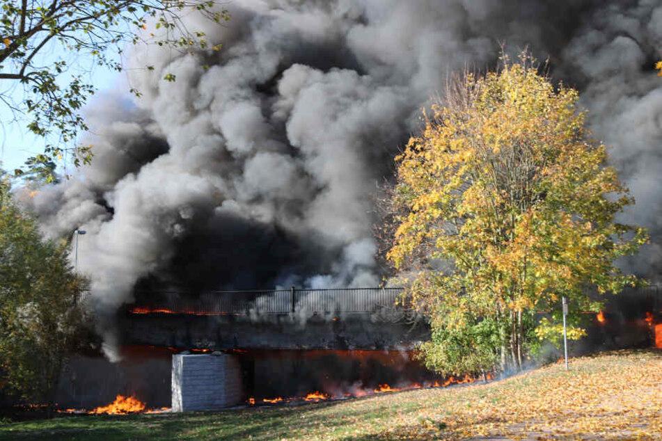 Brandbrücke von Flöha: Jetzt kommen die Bagger