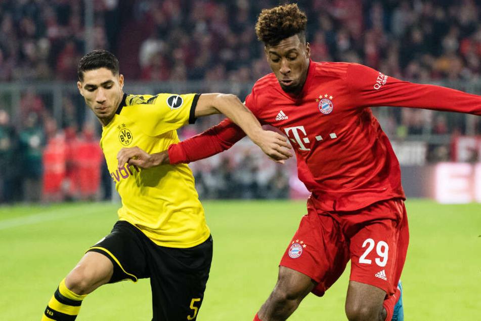 Kingsley Coman (r.) dürfte bald wieder für den FC Bayern auf dem Rasen stehen.