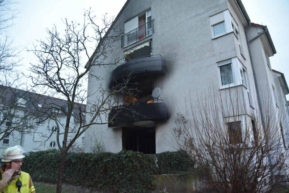 In Mannheim brannte es auf einem Balkon.