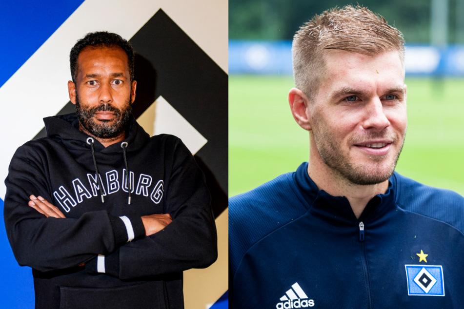 Der HSV stellt Daniel Thioune (l.) als neuen Trainer vor und verpflichtet kurz darauf Torjäger Simon Terodde.