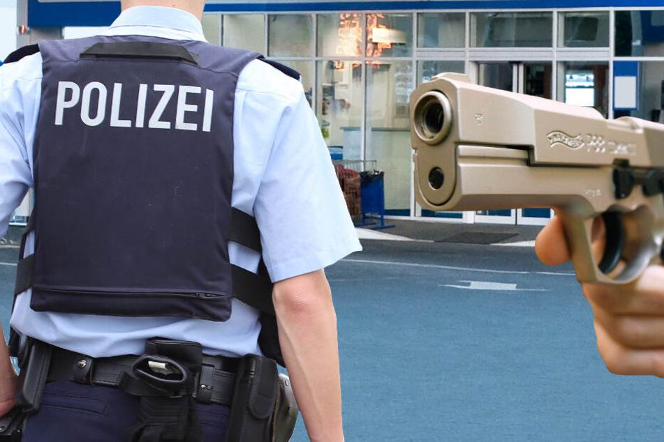 Die Polizei fahndet nach zwei mit Pistolen bewaffneten Männern (Symbolbild).