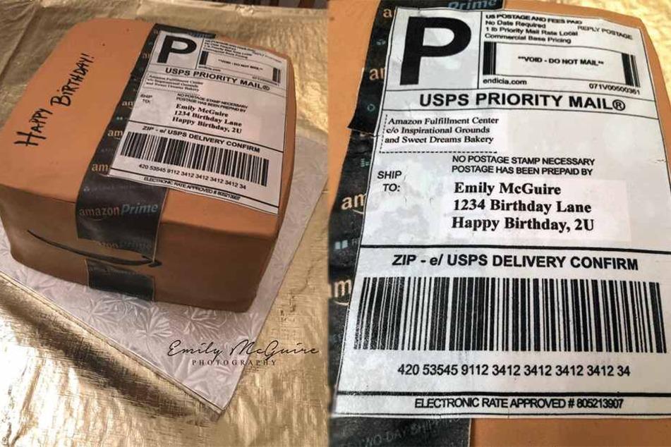 Frau kann nicht glauben, was sich hinter diesem Amazon-Paket verbirgt