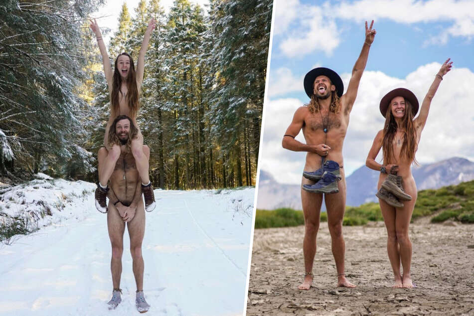 Naked all over the world: couple posts nudes from their globetrotting trips