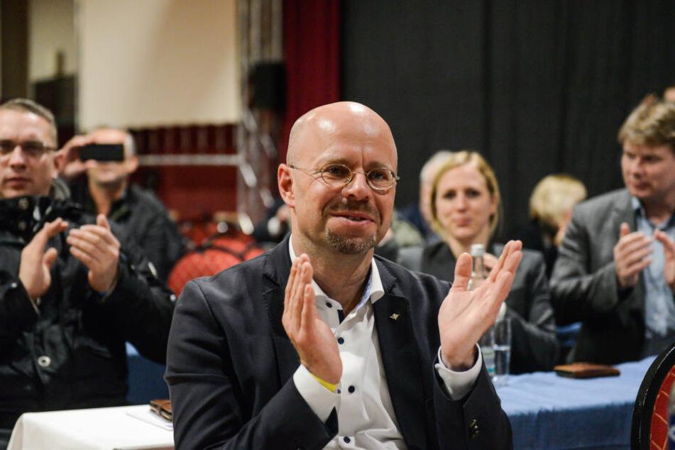 Der Brandenburger Landesvorsitzende Andreas Kalbitz auf dem Parteitag der AfD.