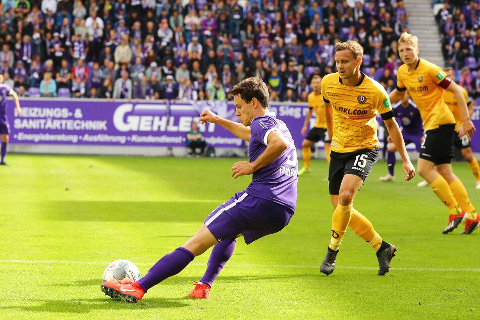 Aues Clemens Fandrich zog vor Dresdens Chris Löwe ab.
