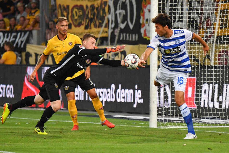 Gleich im ersten Saisonspiel der Schwarz-Gelben stand Linus Wahlqvist von Beginn an auf dem Feld.