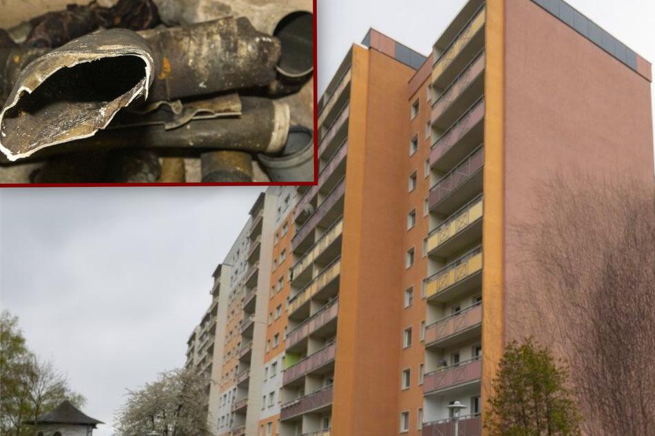 Feuer in einem Zwickauer City-Hochhaus: War es versuchter Mord?