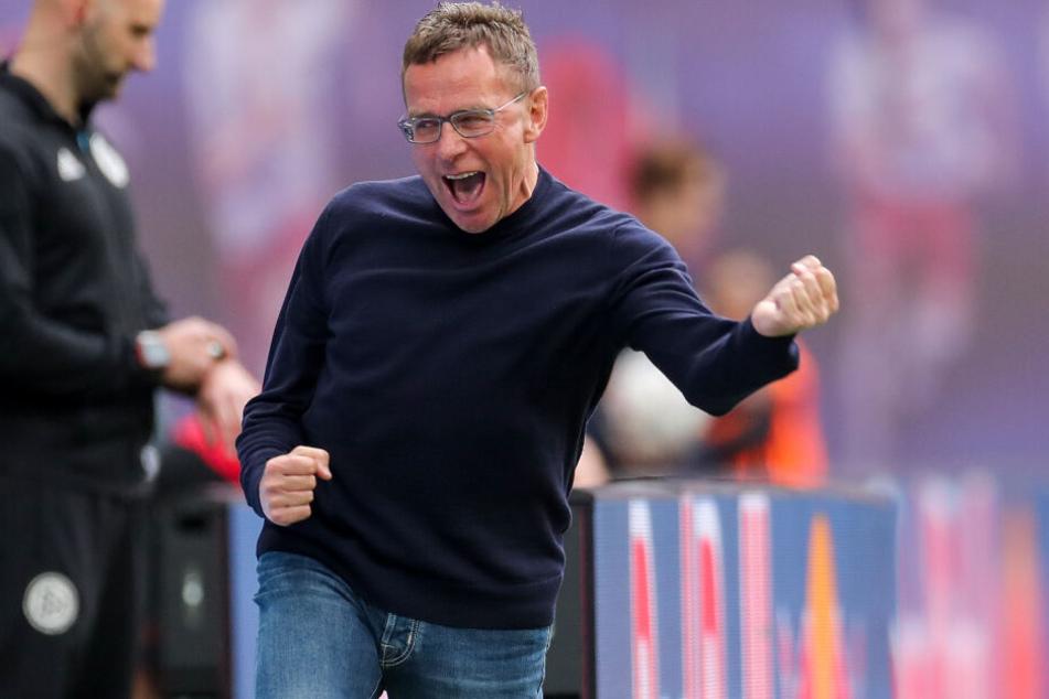 Ralf Rangnick (60) kam 2012 zur Red-Bull-Familie, stand in 86 Pflichtspielen für Leipzig an der Seitenlinie.