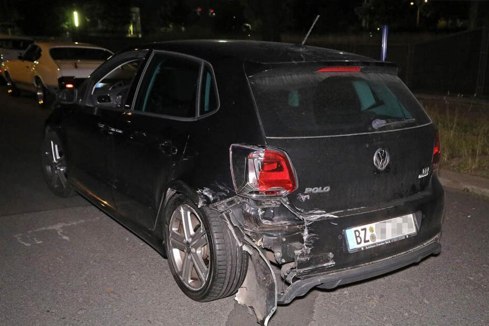 Auch ein VW Polo wurde in Mitleidenschaft gerissen.