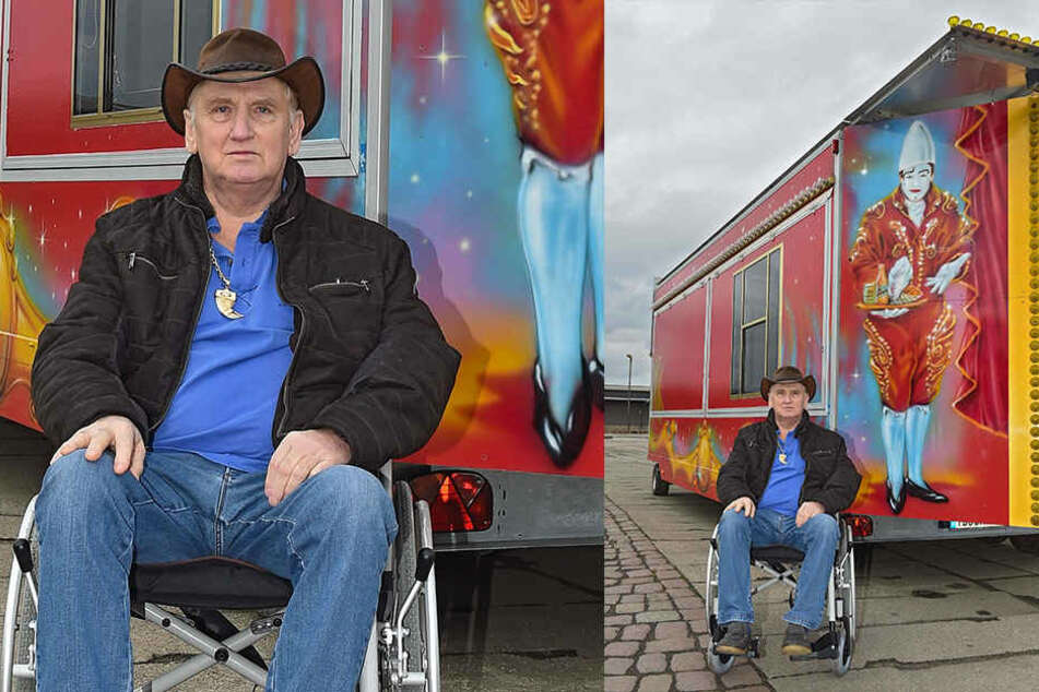 Sitzt zwar noch oft im Rollstuhl, ist aber nicht zu bremsen: Weihnachts-Cirkus-Direktor Mario Müller-Milano (69).