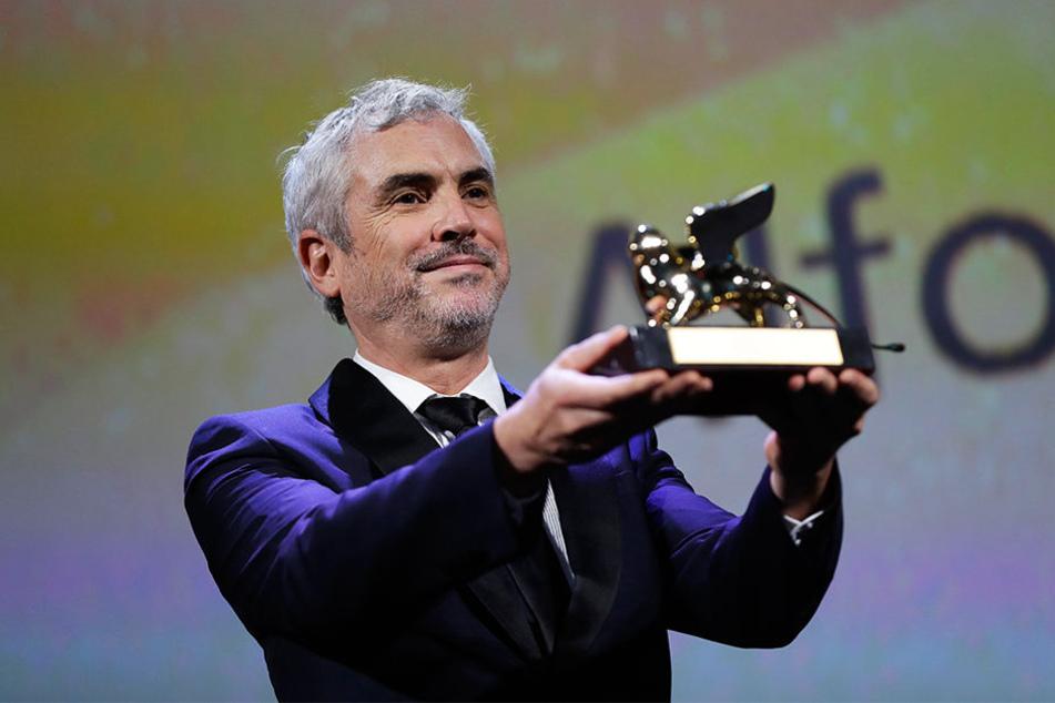 """""""Oscar""""-Preisträger Alfonso Cuarón (56, """"Gravity"""") gewann für sein Drama """"Roma"""" den Goldenen Löwen bei den Filmfestspielen Venedig."""