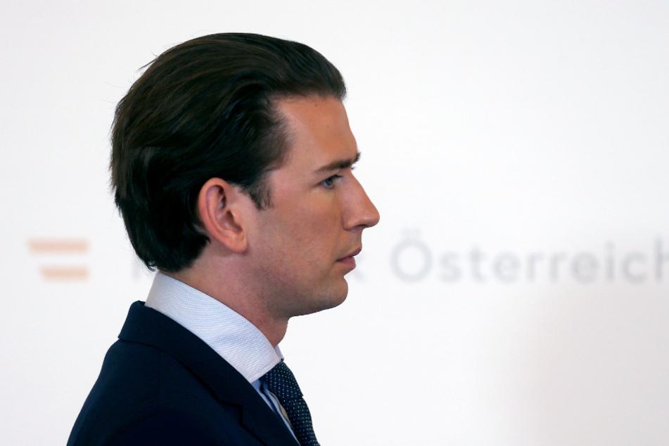Sebastian Kurz, Bundeskanzler von Österreich, kommt zu einer Pressekonferenz.