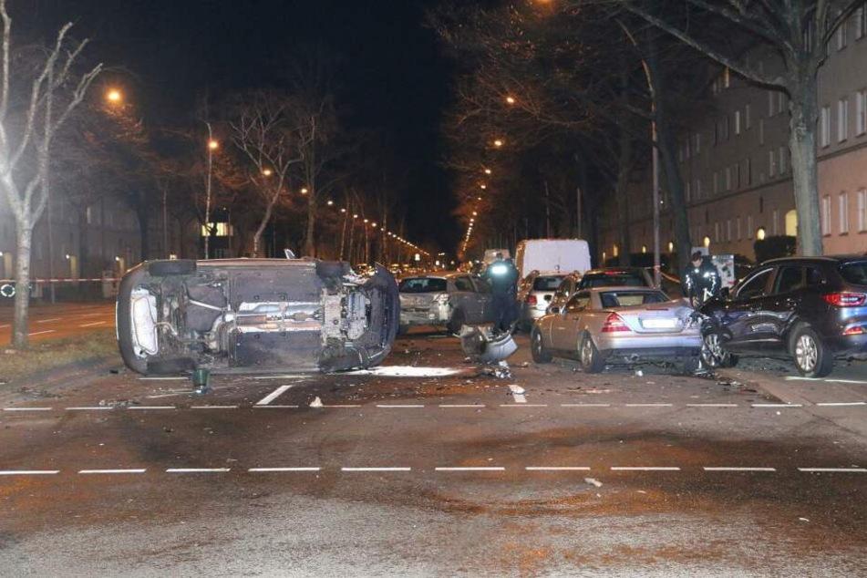 Zwei illegale Rennfahrer sorgten für einen Unfall.