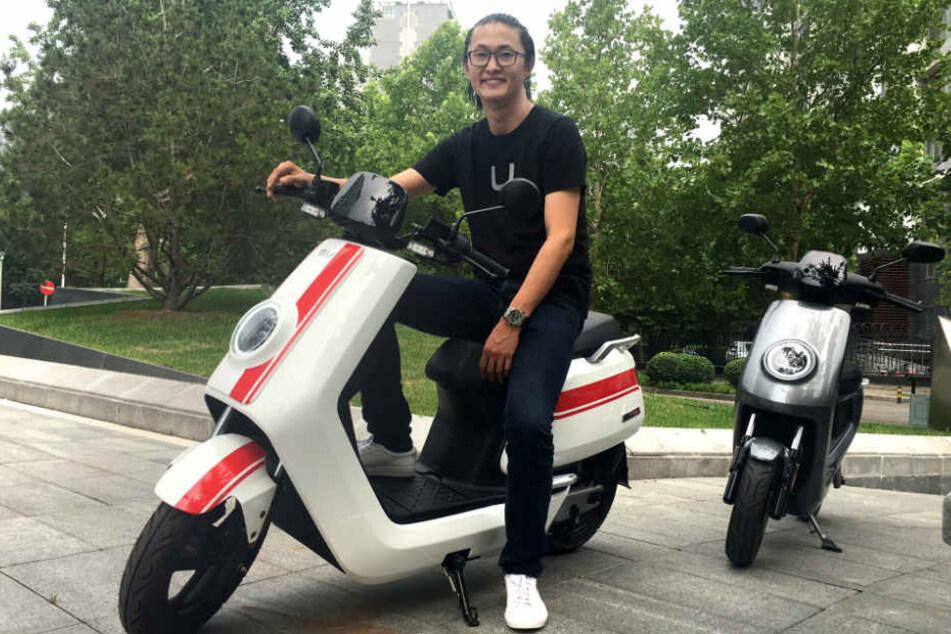 Token Hu (33), der Gründer des chinesischen E-Roller Start-ups Niu. (Archiv)