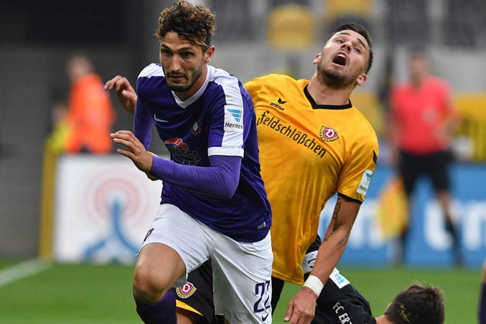 Das letzte Auer Spiel in Dresden endete schmerzhaft für Dynamo - 0:3.